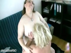 Two horny old grandma sluts enjoying