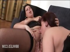 Lusty lesbo pussy licked and fingered..