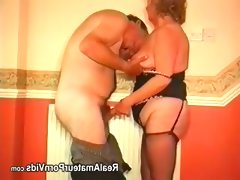 Fat granny with her husband have sex..