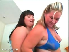 Lesbo bbw couple licking big hot boobs