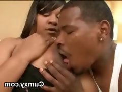 Bbw fat ebony licked and pounded in..