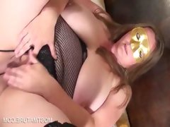 Horny mature rubbing tits and cunt