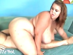 Horny bbw gets her pussy slammed