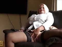 Shaved granny lacey starr sucks off..