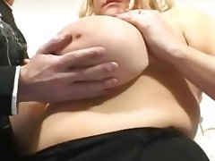Blond bbw and giant amazing tits and..