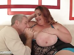 Fat and big boobed kayla mounds rides..
