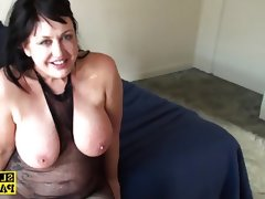 Busty bdsm brit dominated and made to..