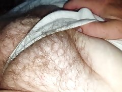 Wifes tired resting hairy pussy..