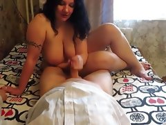 Russian bbw ride on inmate\'s cock