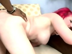Busty and horny white babe fucks a big..