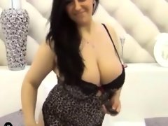 Thick woman with big natural tits and..