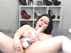 Bbw chick double dildo blowjob and..
